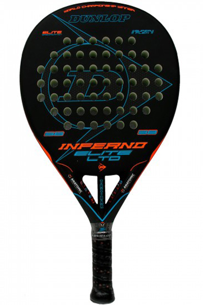 Pala de pádel Dunlop Inferno Elite LTD Blue - azul 2018